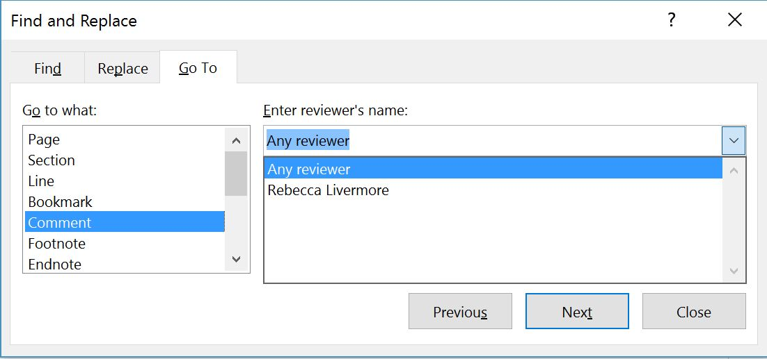 how to change comment to edit in word