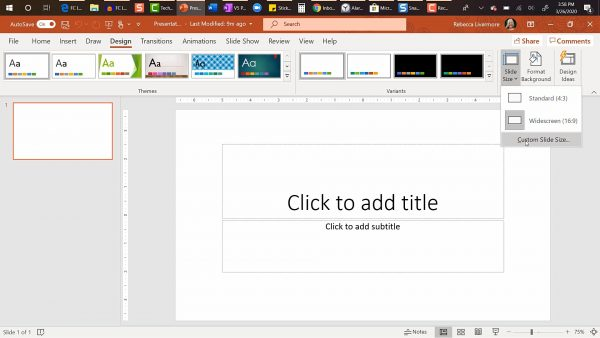 setting up pages in PowerPoint for your children's picture book